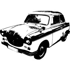 Wandtattoo Auto Trabant 500 DDR