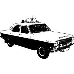 Wandtattoo Auto Wolga Polizeiauto