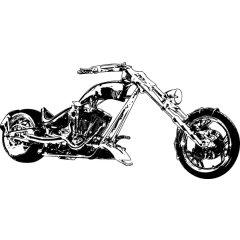 Wandtattoo Custom Chopper Freiheitsstatue