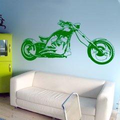 Wandtattoo Black Custom Chopper Motorrad