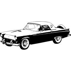 Wandtattoo Auto Ford Thunderbird 1956