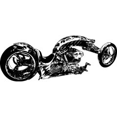 Wandtattoo Golden Chopper Motorrad