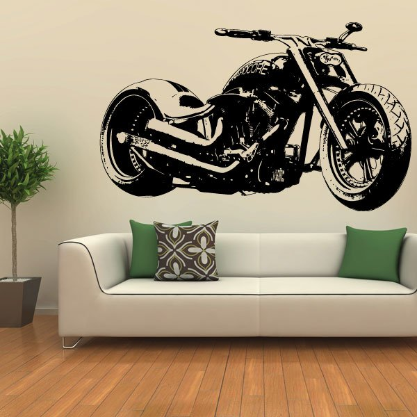 Wandtattoo Hardcore Custom Chopper Motorrad