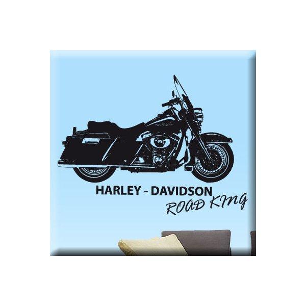 Wandtattoo Harley Davidson Road King - USA Kult