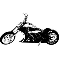 Wandtattoo Hybrid Custom Chopper