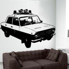 Wandtattoo Auto Lada Polizei DDR