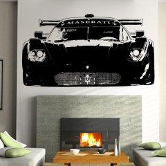 Wandtattoo Maserati Grand Turismo Front Auto