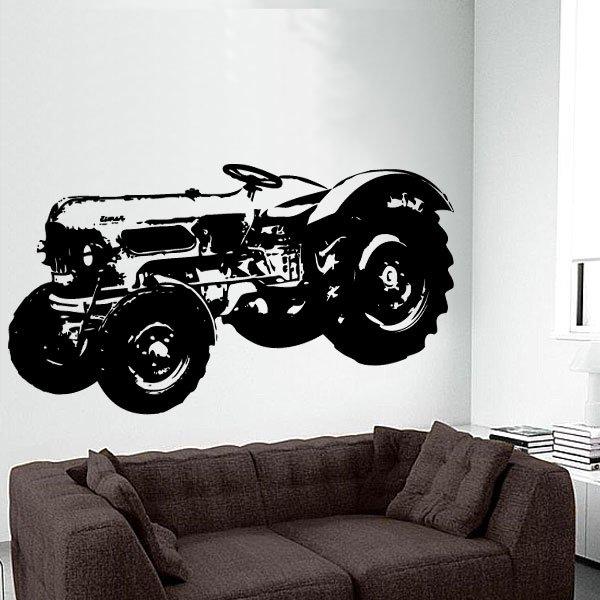 Wandtattoo Traktor Eiche Trecker