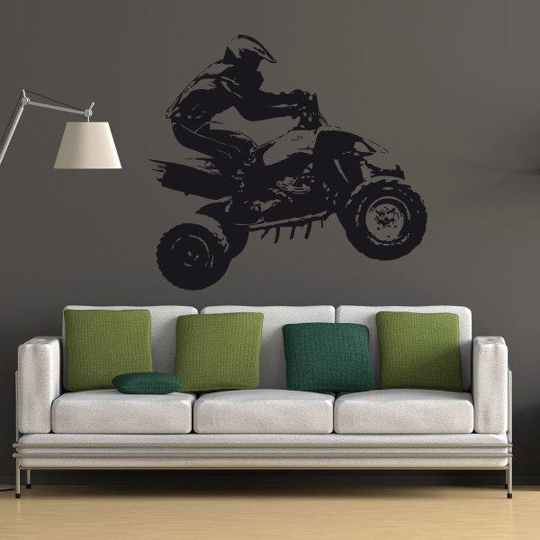 Wandtattoo Motocrosser Quad - Nr.3