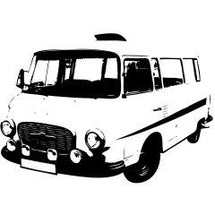 Wandtattoo B1000 Barkas Bus DDR