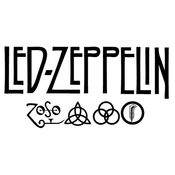 Wandtattoo Musik Led Zeppelin Rock