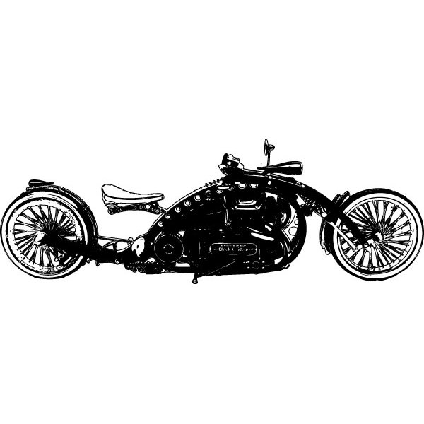 Wandtattoo Custom Chopper Black Widow #2