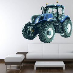 Wandtattoo Wandaufkleber Wallprint Traktor New Holland T8