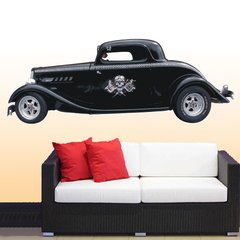 Wandtattoo Wandaufkleber Wallprint Tattoo Hot Rod