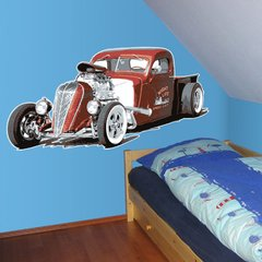Wandtattoo Wandaufkleber Wallprint Hot Rod - Pickup