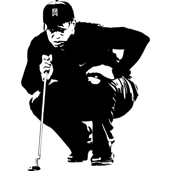 Wandtattoo Golf Tiger Woods