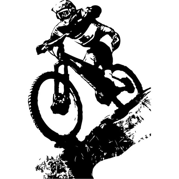 Wandtattoo Aufkleber Downhill Biking Dirt Sport