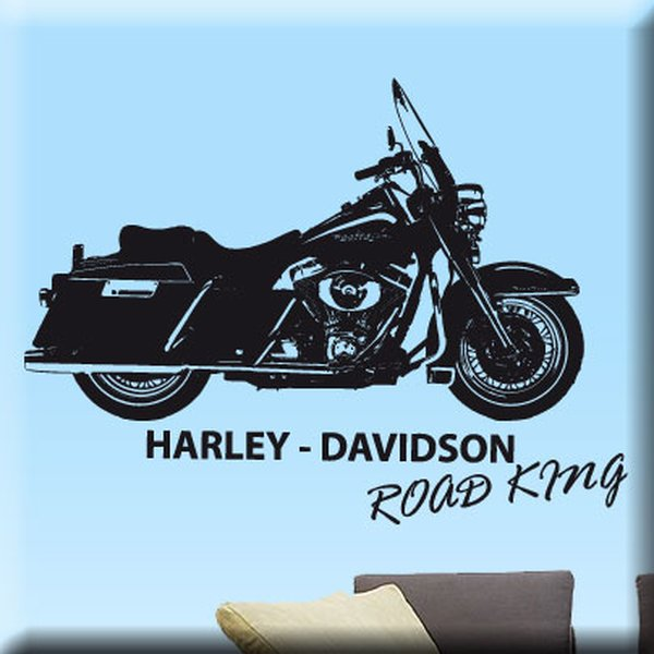 Wandtattoo Harley Davidson Road King - USA Kult