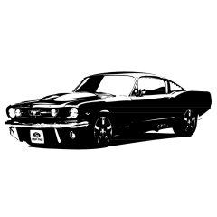 Wandtattoo 67er Ford Mustang Motorsport