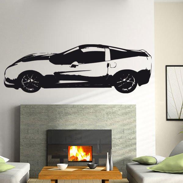 Wandtattoo Corvette Auto PS