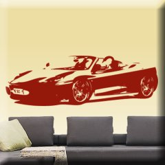 Wandtattoo Ferrari 360 Spider Motor Auto PS