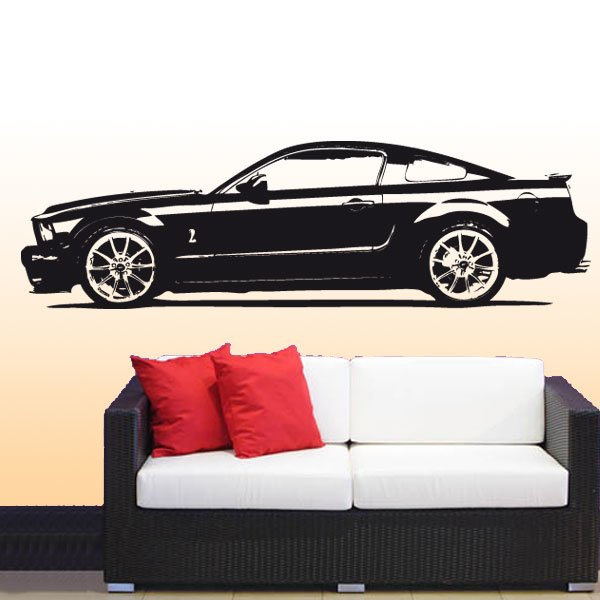 Wandtattoo Ford Mustang Shelby Motor Auto PS