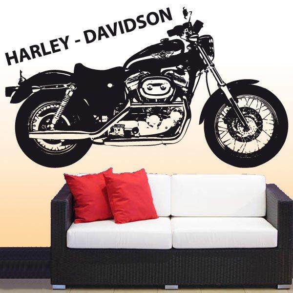 Wandtattoo Harley Davidson Roadster XL883