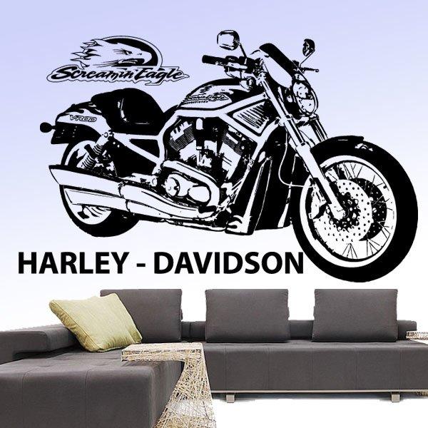 Wandtattoo Harley Davidson Screamin Eagle