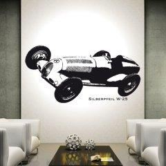 Wandtattoo Mercedes Silberpfeil W-25 Auto PS