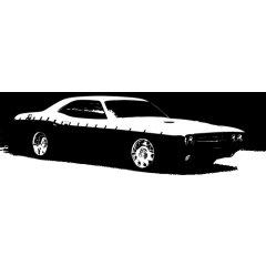 Wandtattoo Motiv Motor Challenger