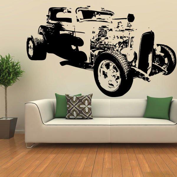 Wandtattoo Motiv Motor Hot Rod 333