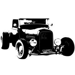 Wandtattoo Motiv Motor Hot Rod Old 2