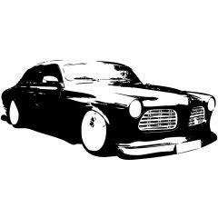 Wandtattoo Motiv Motor Hot Rod Original