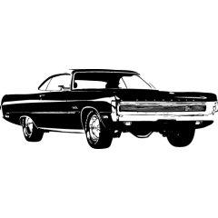 Wandtattoo Motiv Motor Plymouth Fury
