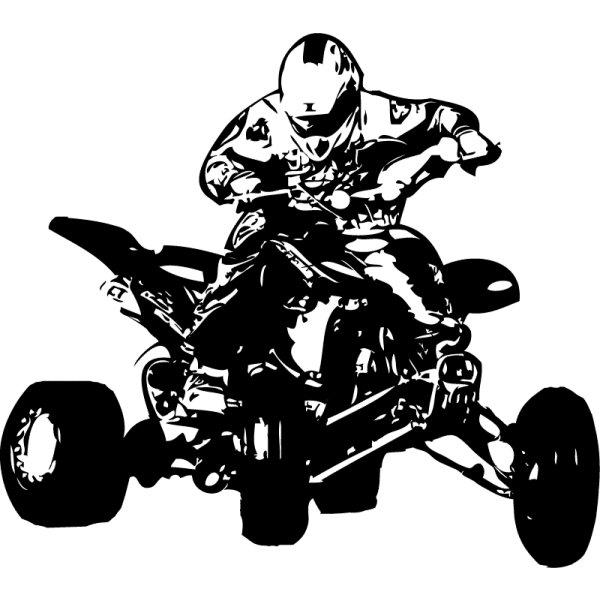 Wandtattoo Motocrosser Quad - Nr.2 Sprung