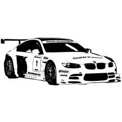 Wandtattoo Motor BMW E46 M3 Auto PS