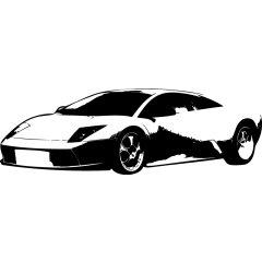 Wandtattoo Motor Lamborghini Auto PS