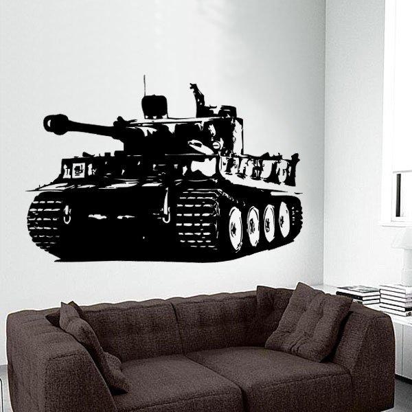 Wandtattoo Panzer Tiger 1 Wehrmacht WW 2 Tank Panzerkampfwagen
