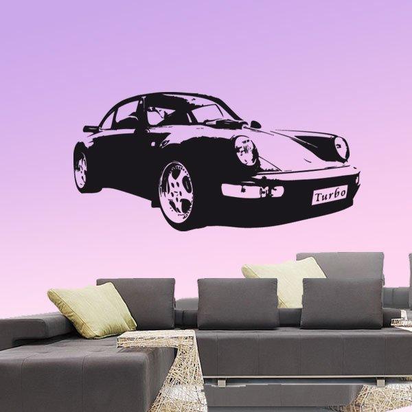 Wandtattoo Racing Porsche Turbo