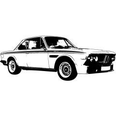 Wandtattoo BMW 3er