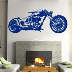 Wandtattoo Yamaha Chopper Blue Stars Plot