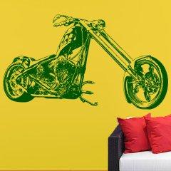 Wandtattoo Yellow Custom Chopper Plot