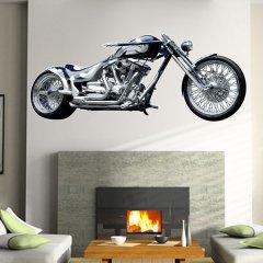 Wandtattoo Wandaufkleber Wallprint Yamaha Chopper Blue Stars